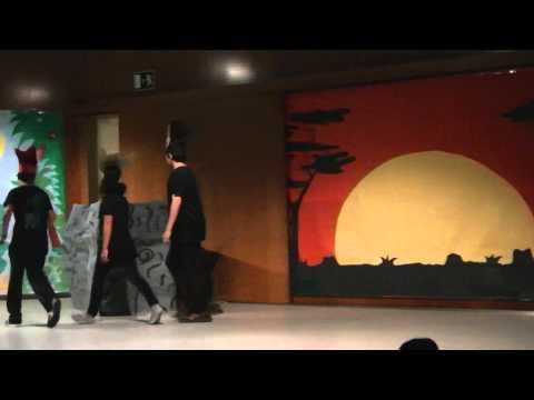 Obra del Rei Lleó representada per la classe de Dracs de l'Escola Andorrana d'Ordino I
