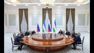 Смотреть видео Президент Узбекистана принял Председателя Государственной Думы Федерального собрания России онлайн
