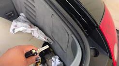 Audi TT secret fuel door release! [incase your button doesn't work or car battery is dead]