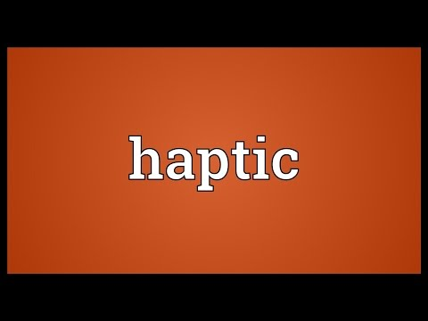 Haptic Meaning