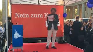 Lühr Henken Rede: Kundgebung »Nein zum Krieg« für Deeskalation in Syrien - 18.4.2018