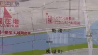 日本ローカル線のぶらり旅ー岡山県の津山駅と駅前広場(旧津山藩の津山城の町へ)