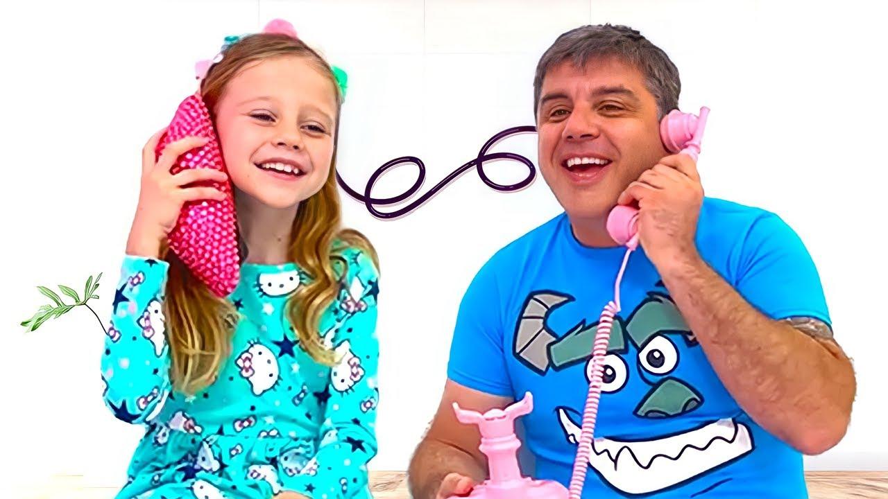 Nastya e papai, me copie desafio para crianças