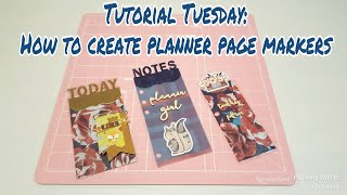 How to create planner page markers | Tutorial Tuesday | Planning With Eli