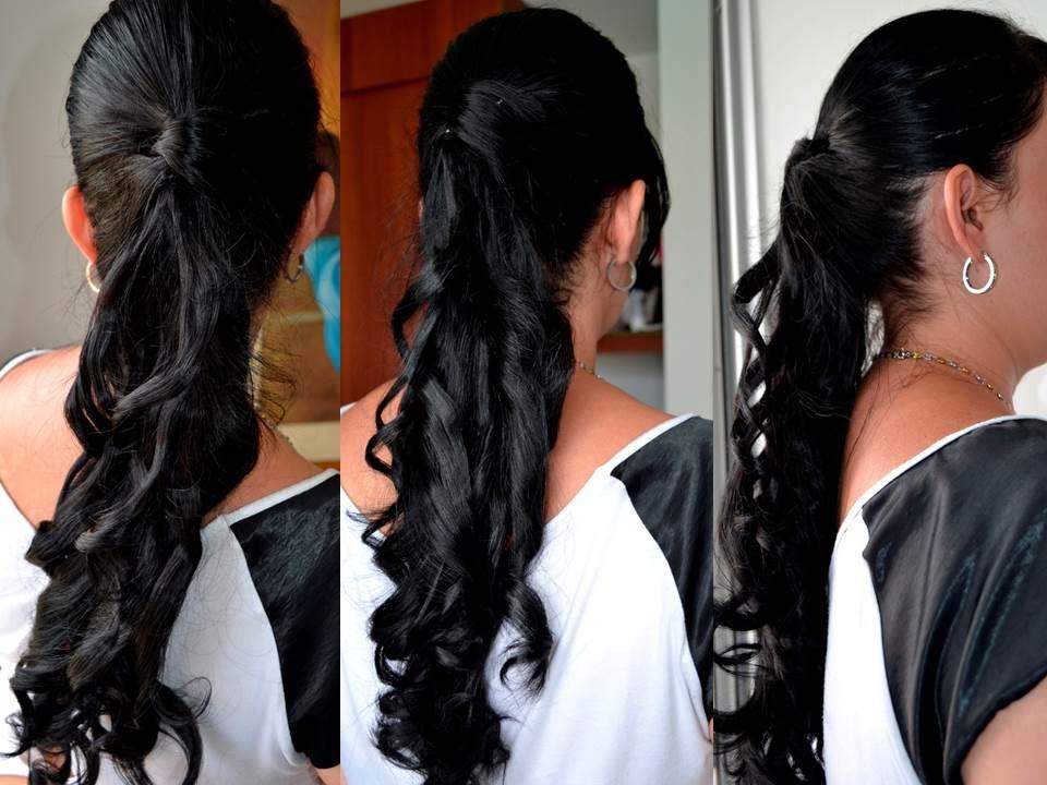 Peinado f cil de hacer semirecogido con rizos youtube - Semirecogidos faciles para hacer en casa ...