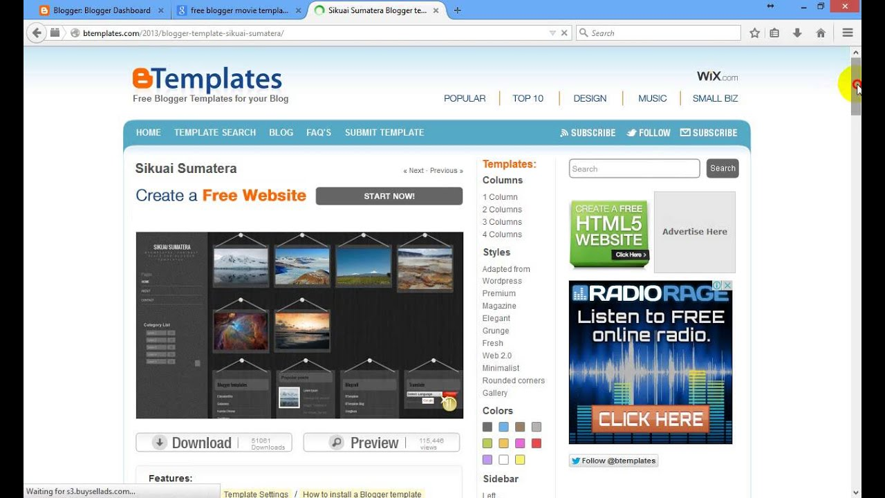 change blogger template - how to change blogger template html - YouTube