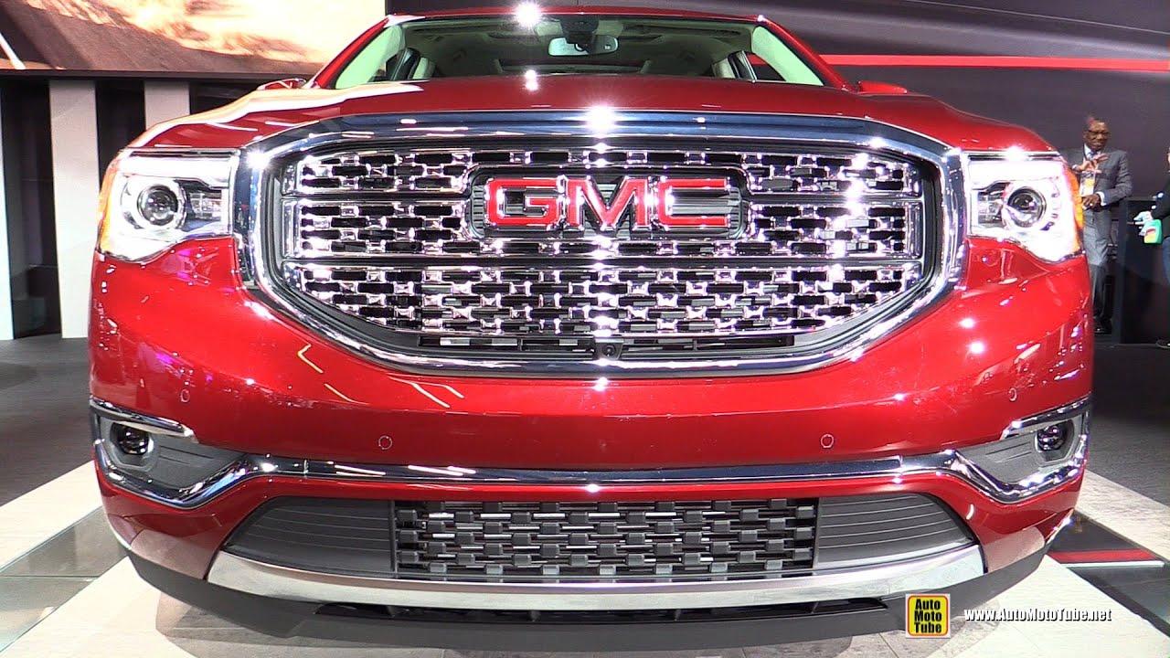 2017 gmc acadia denali exterior and interior walkaround debut at 2016 detroit auto show by for Gmc acadia denali 2017 interior