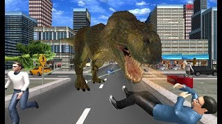► Angry Dinosaur City Attack Simulator 3D (Quick Rat Entertainment) Android Gameplay