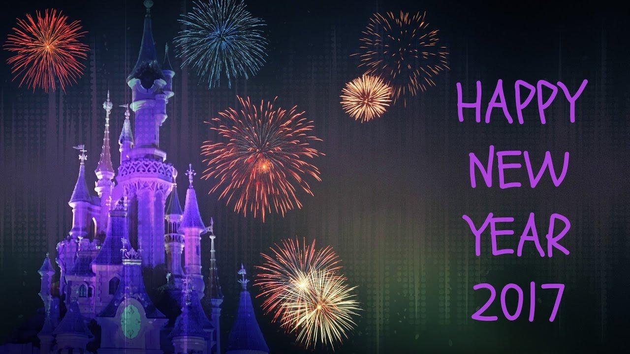 happy new year 2017 light show fireworks disneyland paris
