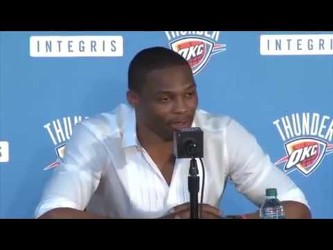 """Russell Westbrook sneak diss kevin Durant & Steph Curry """"super team"""""""