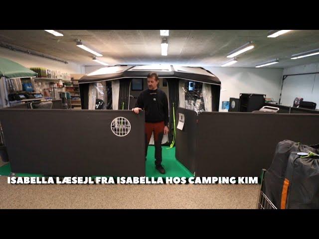 Isabella Læsejl hos Camping Kim (Reklame)
