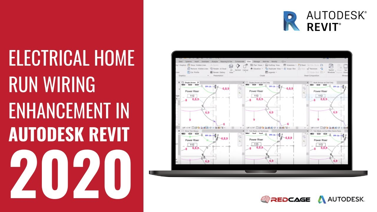 medium resolution of electrical home run wiring enhancements in autodesk revit 2020