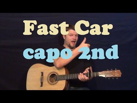 Fast Car Tracy Chapman Easy Guitar Lesson Capo Nd How To Play - Fast car plucking