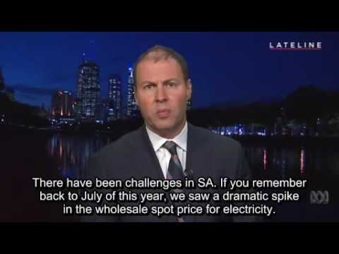 Interview Energy and Environment Minister Josh Frydenberg
