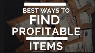Best Ways To Find Profitable Items To Sell On Ebay  (2018)
