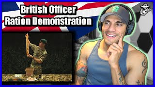US Marine reacts to British Officer Ration Pack Demo