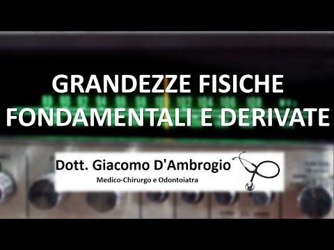 GRANDEZZE FONDAMENTALI E DERIVATE (VIDEO)