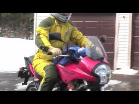 Magnetized baby clings to 140mph motorcycle
