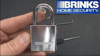(27) Brinks 40mm Padlock (How to Pick Security Pins)