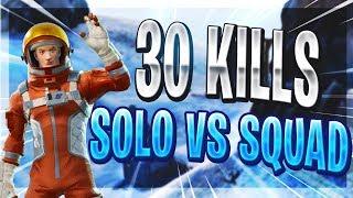 30 KILL SOLO vs SQUAD GAME | Fortnite Battle Royale