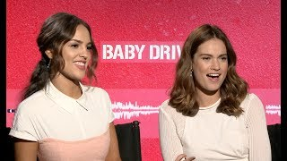 BABY DRIVER interview with Lily James and Eiza González