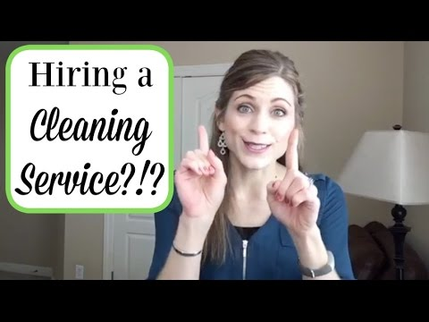 I was adamantly opposed to hiring a cleaning service!!