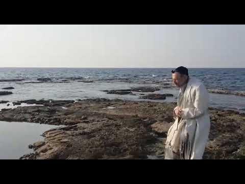 הרב דב קוק בהתבודדות עם קונו מול הים הגדול