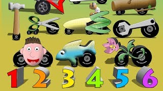 Strange Vehicles 2 - Count To Ten Funny Cars Trucks and Vehicles for Children