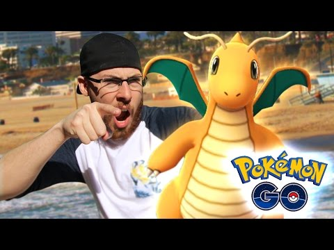 POKÉMON GO GAMEPLAY - CATCHING A DRAGONITE! DRAGONITE SPAWN LOCATION! (POKÉMON GO)