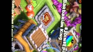 My clash of clans base first clash vid