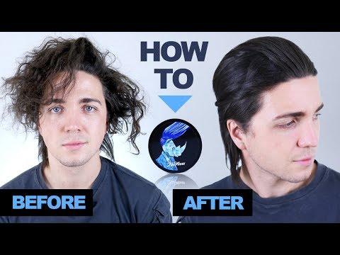 Wavy/curly to straight hair using BluMaan Original - Men's Hairstyle Ideas