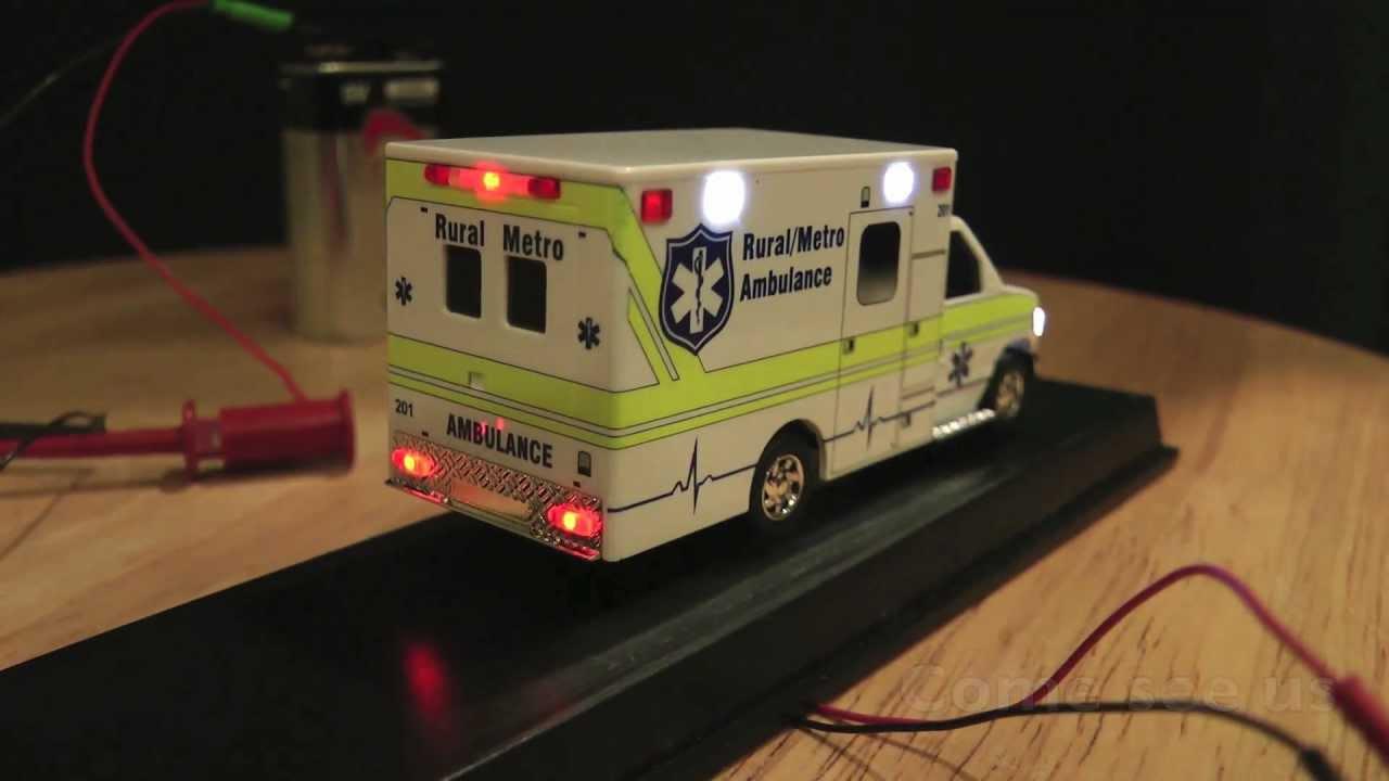 Ho Scale Ambulance With Emergency Led Lighting Youtube