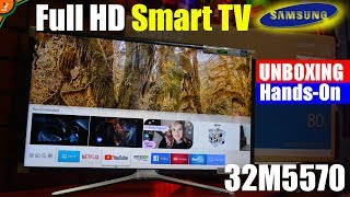 "Samsung Smart LED TV M5570 Unboxing and Initial Setup | Best Budget FHD 32"" Smart TV 