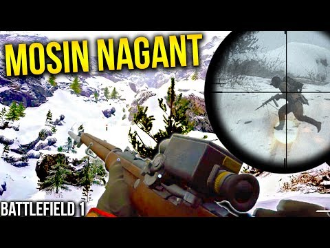 NEW SNIPER + SNOW MAP Battlefield 1 Russian DLC Gameplay