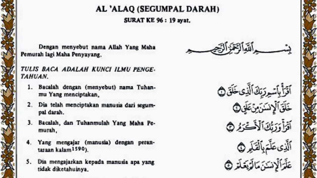 Al Alaq Al Quran Terjemahnya
