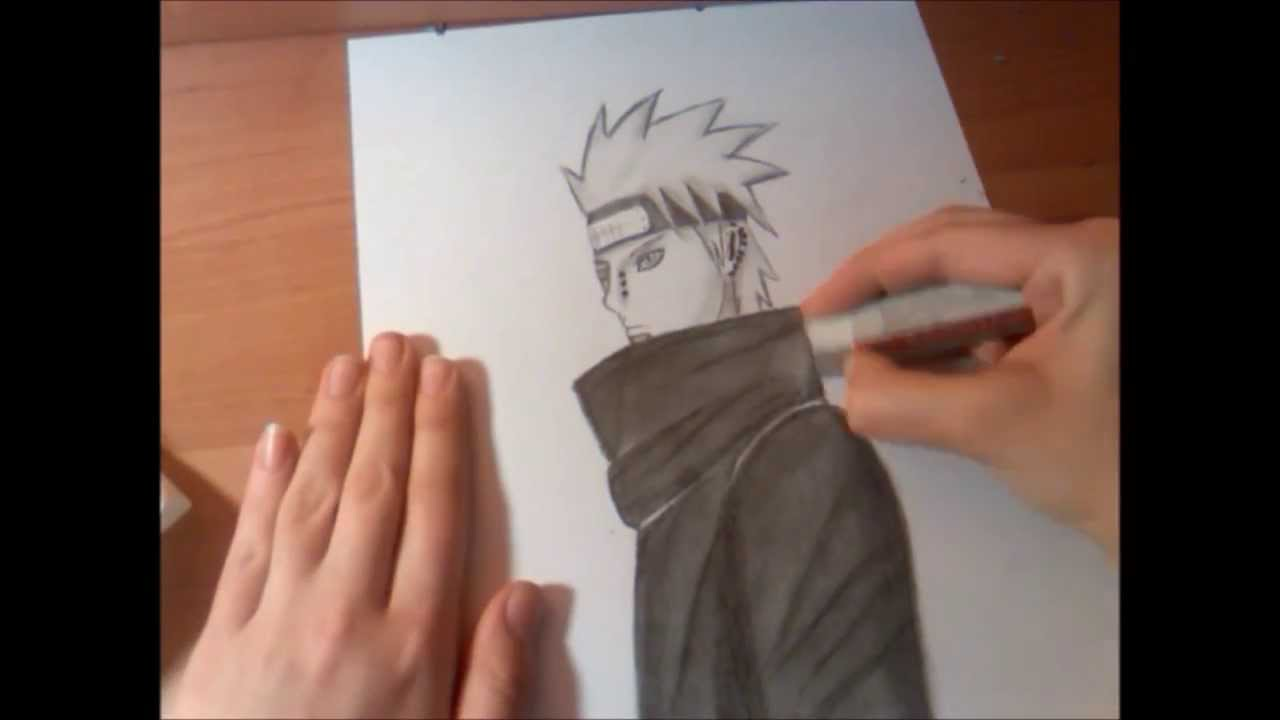 pein tendo pain speed drawing youtube