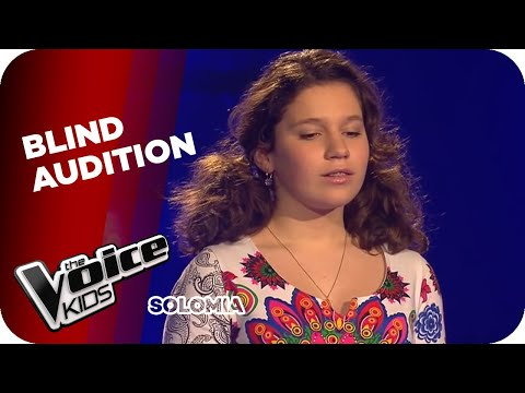 Andrea Bocelli   Time To Say Goode Solomia  The Voice Kids 2015  Blind Auditis  SAT1