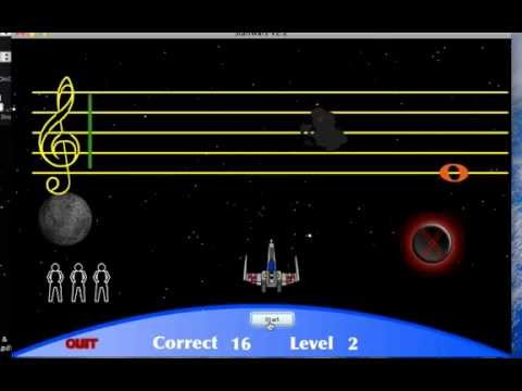 Staff Wars 2 (Note Recognition Video Game for Instruments)