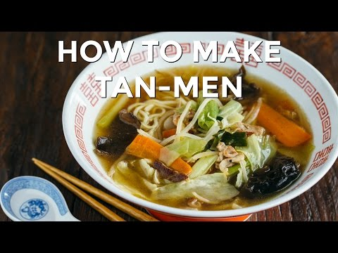 How To Make Tan-Men - Midnight Diner Series (Recipe) タンメンの作り方 (レシピ)