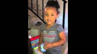Summer saying she's potty train...!!!