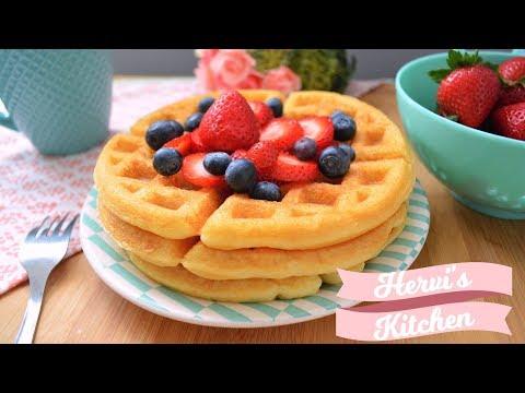 Receta Waffles | Waffles de colores | Ale Hervi