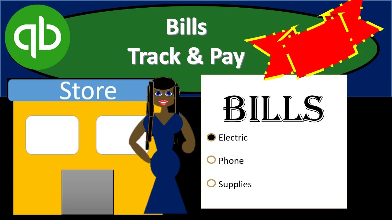QuickBooks Pro 2019 Bills Track & Pay - QuickBooks Desktop 2019