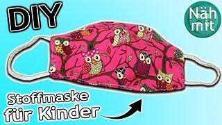 Mundschutz nähen Teil 3: Schutzmaske für Kinder   Stoffreste   Gratis Schnittmuster   Näh mit mir!