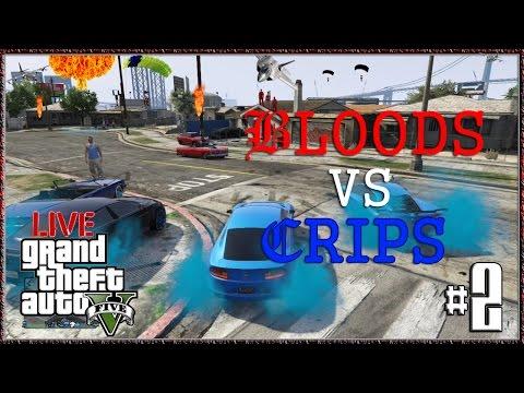 "GTA V Online Gang War ""GTA 5 Bloods Vs Crips #2"" GTA5 Gameplay Next Gen Xbox One"