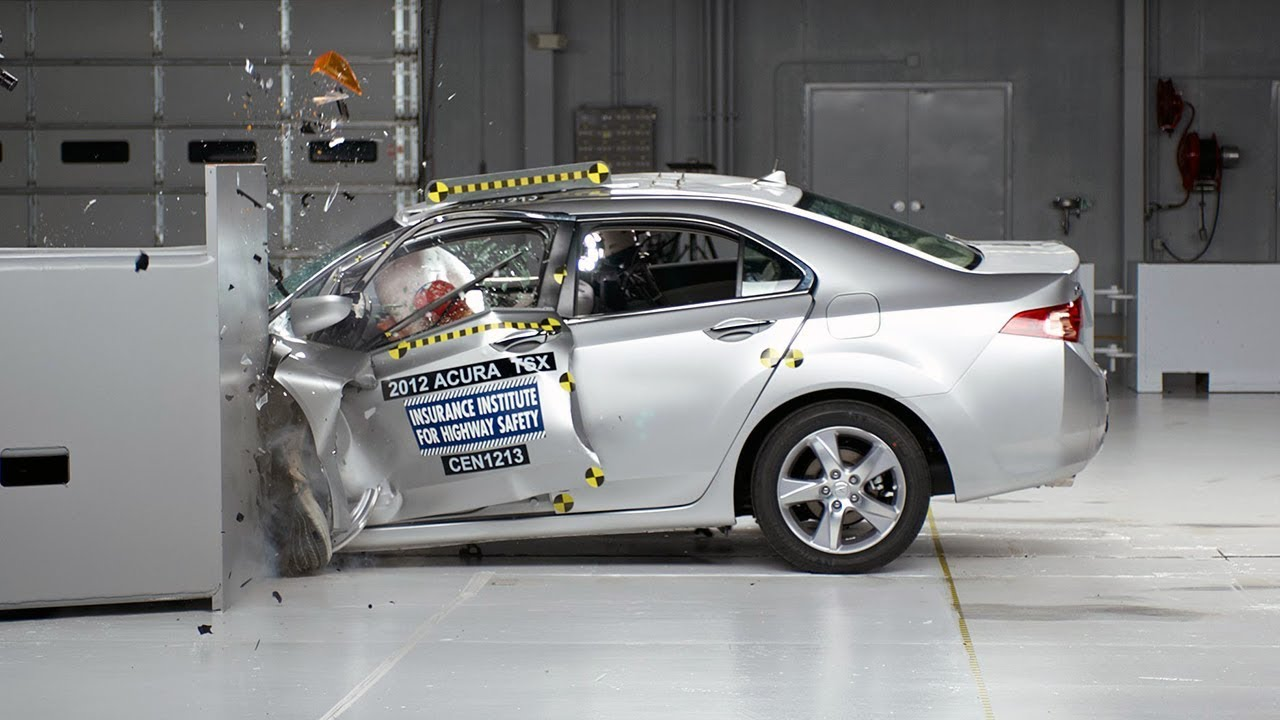 2012 acura tsx driver side small overlap iihs crash test