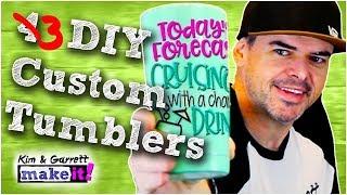 3 Ways to Make Custom Glitter Tumblers