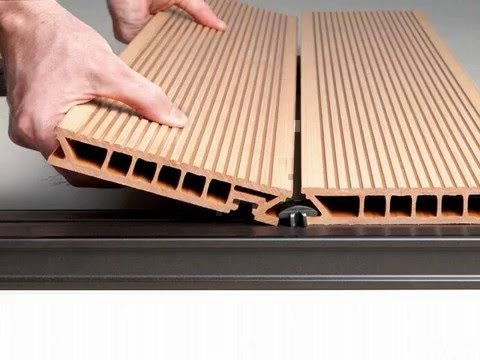 Composite material tongue and groove exterior decking - Tongue and groove exterior decking ...