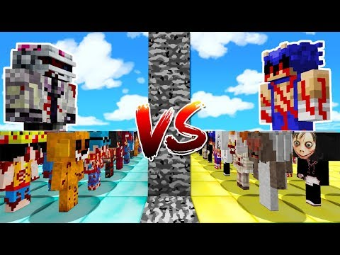 ¡TEAM COMPAS.EXE VS TEAM CREEPYPASTAS ⚔️😱! - BATALLA MORTAL EN MINECRAFT