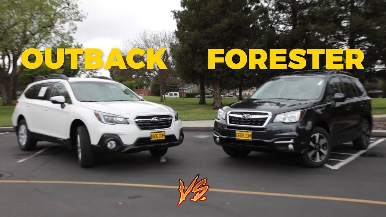 Subaru Outback Vs Forester >> 2018 Subaru Outback Vs 2018 Subaru Forester Dgdg Com Youtube