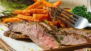 Herb Crusted Flank Steak Cooking Instructions